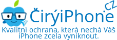 Logo internetového obchodu s obaly, fóliemi a tvrzenými skly na display pro iPhone 6 Plus, iPhone 6, iPhone 5s/5c/5 a iPhone 4s/4. ČirýiPhone.cz.