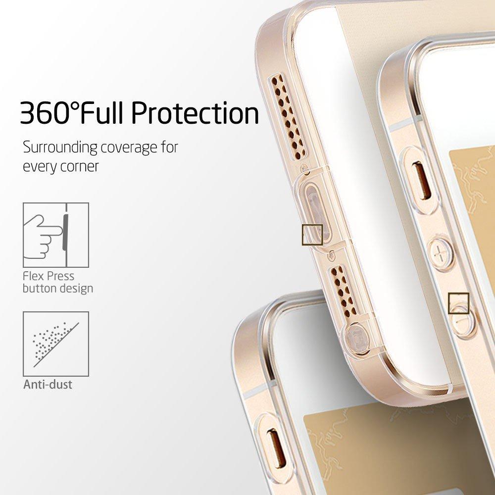 Průhledný transparentní obal na iPhone 5s 5 silikonový