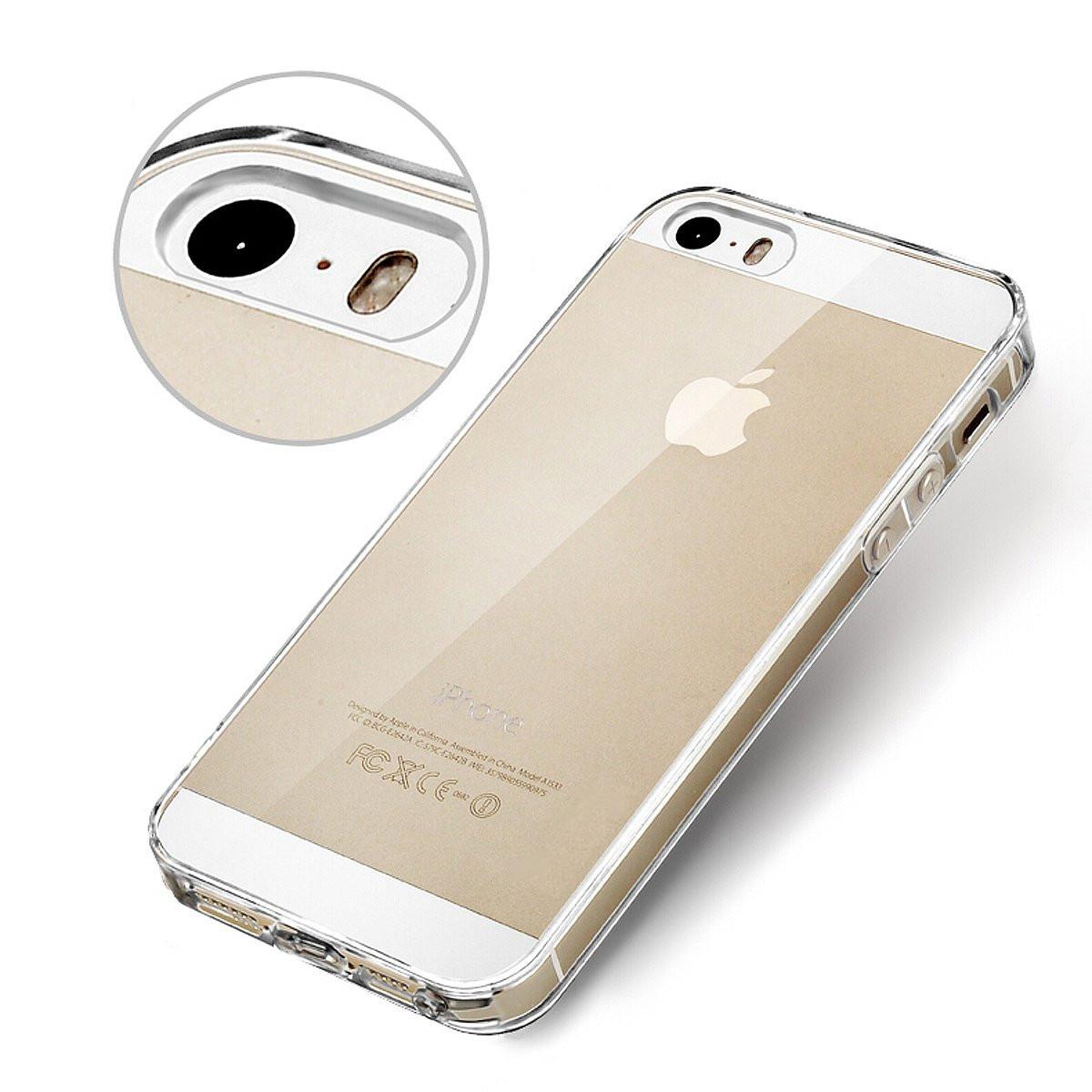 pruhledny ciry transparentni obal kryt pouzdro na apple iphone 5s 5 a iphone se ultra tenky slim silikonovy krystalovy cz d