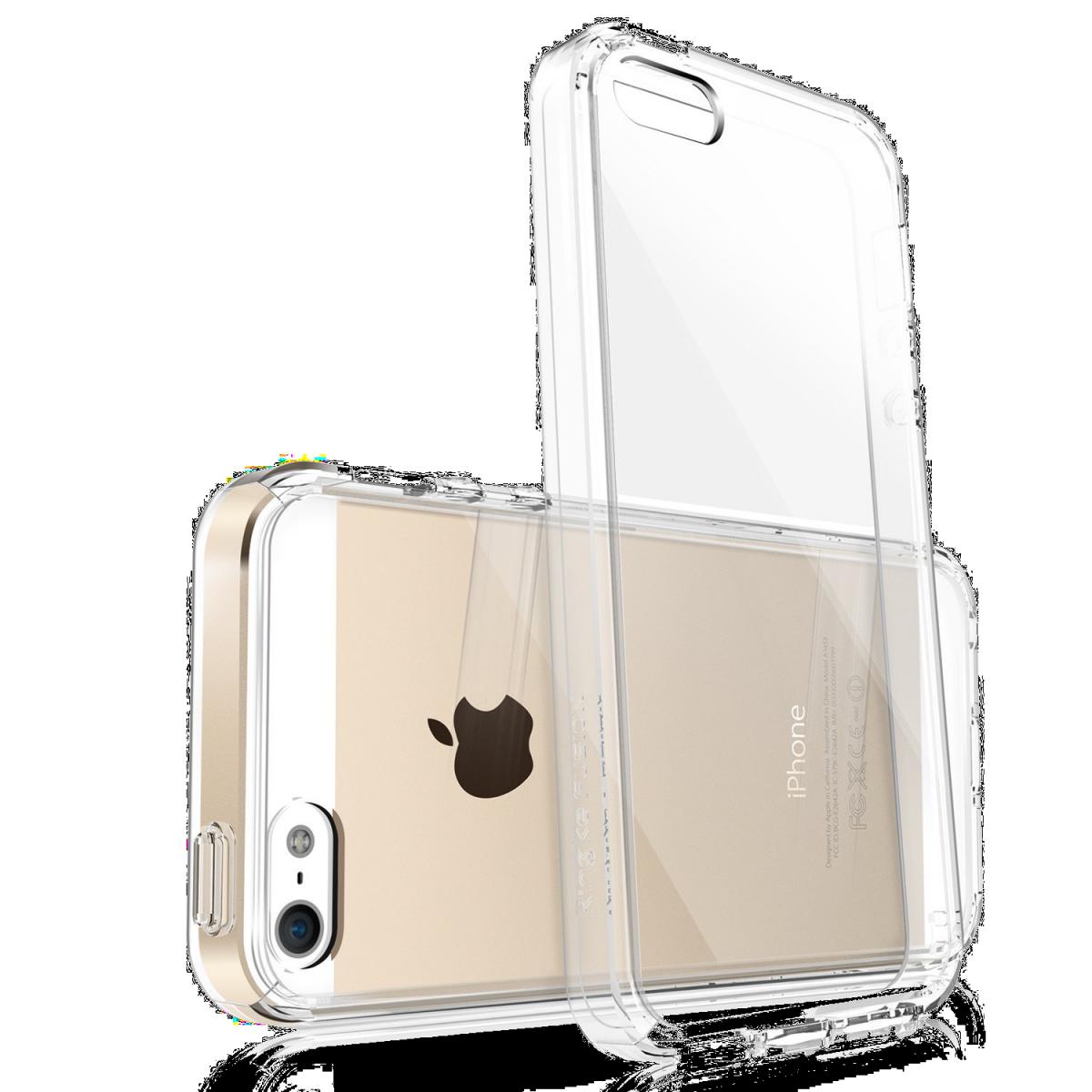 iPhone 5SE: Průhledný čirý transparentní obal / kryt / pouzdro. Kvalitní, tenké, silikonové.