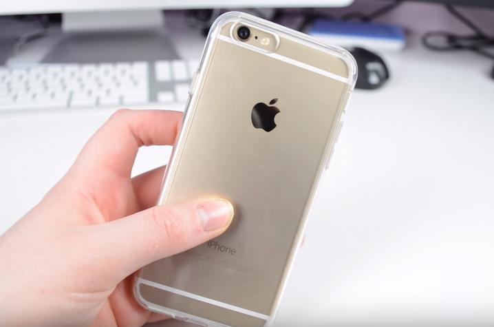 Průhledný čirý transparentní obal / kryt na iPhone 6s a iPhone6.