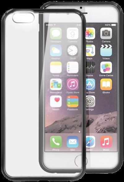Ochranný obal kryt pouzdro Shadow Hybrid průhledný matný černý pro iPhone 6s a iPhone 6.