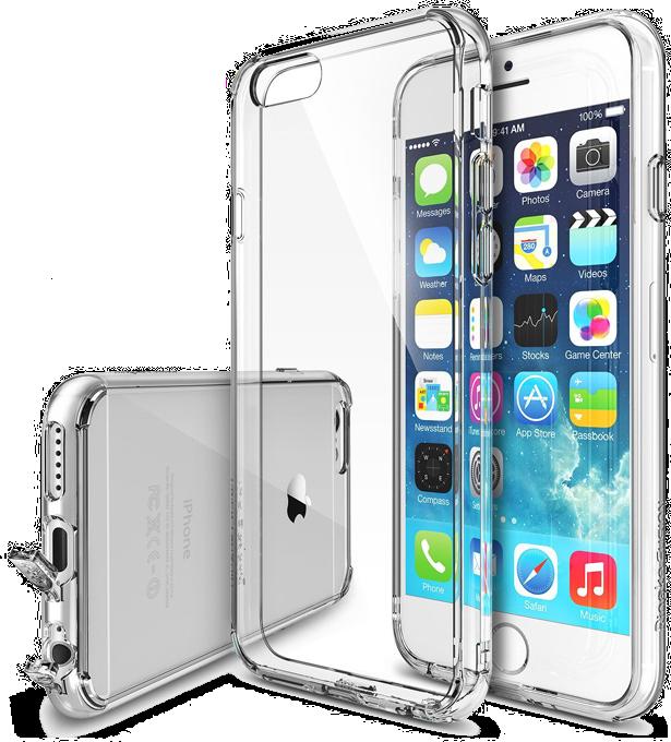 Ochranný obal kryt Ultra Slim Hybrid průhledný čirý transparentní pro iPhone 6s a iPhone 6