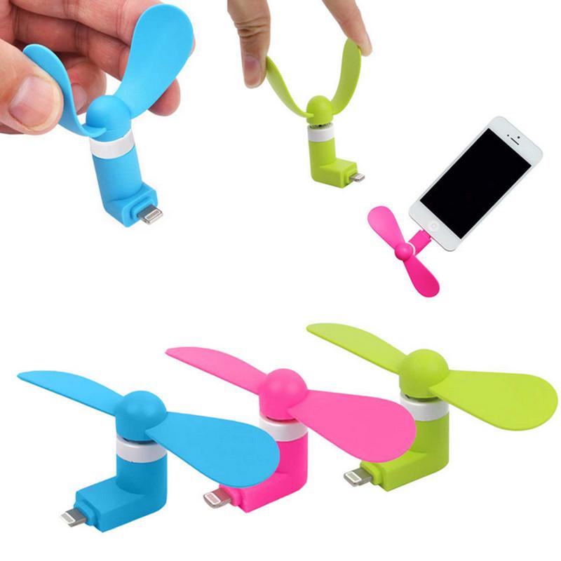Ventilátor / letní mini větráček pro mobilní telefony a tablety Apple (iPhone / iPad / iPod) s konektorem Lightning