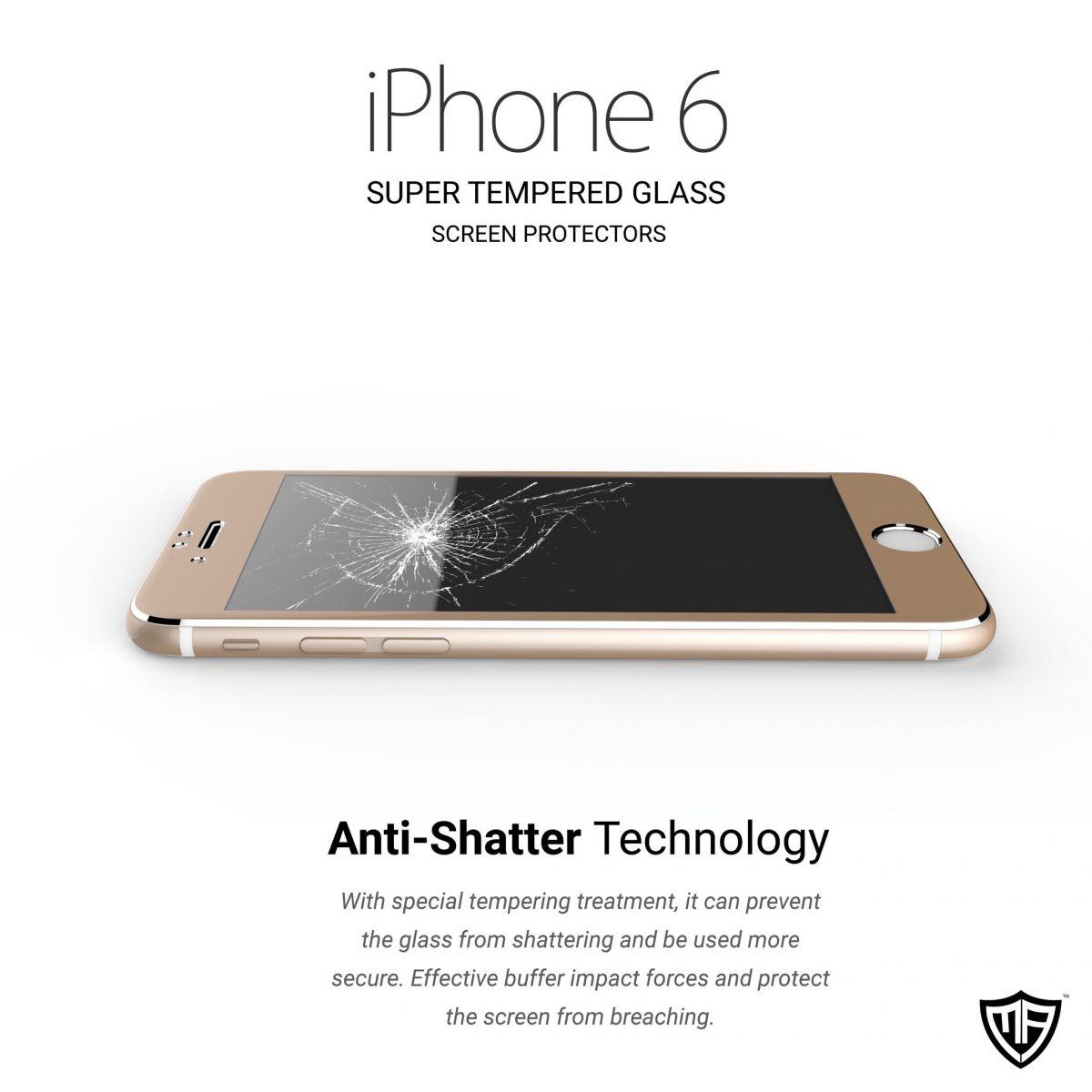 3D ochranné sklo pro Apple iPhone 6s/6 a iPhone 6s/6 Plus.