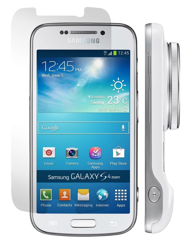 Ochranné tvrzené sklo na displej 9H pro Samsung Galaxy S4 zoom.