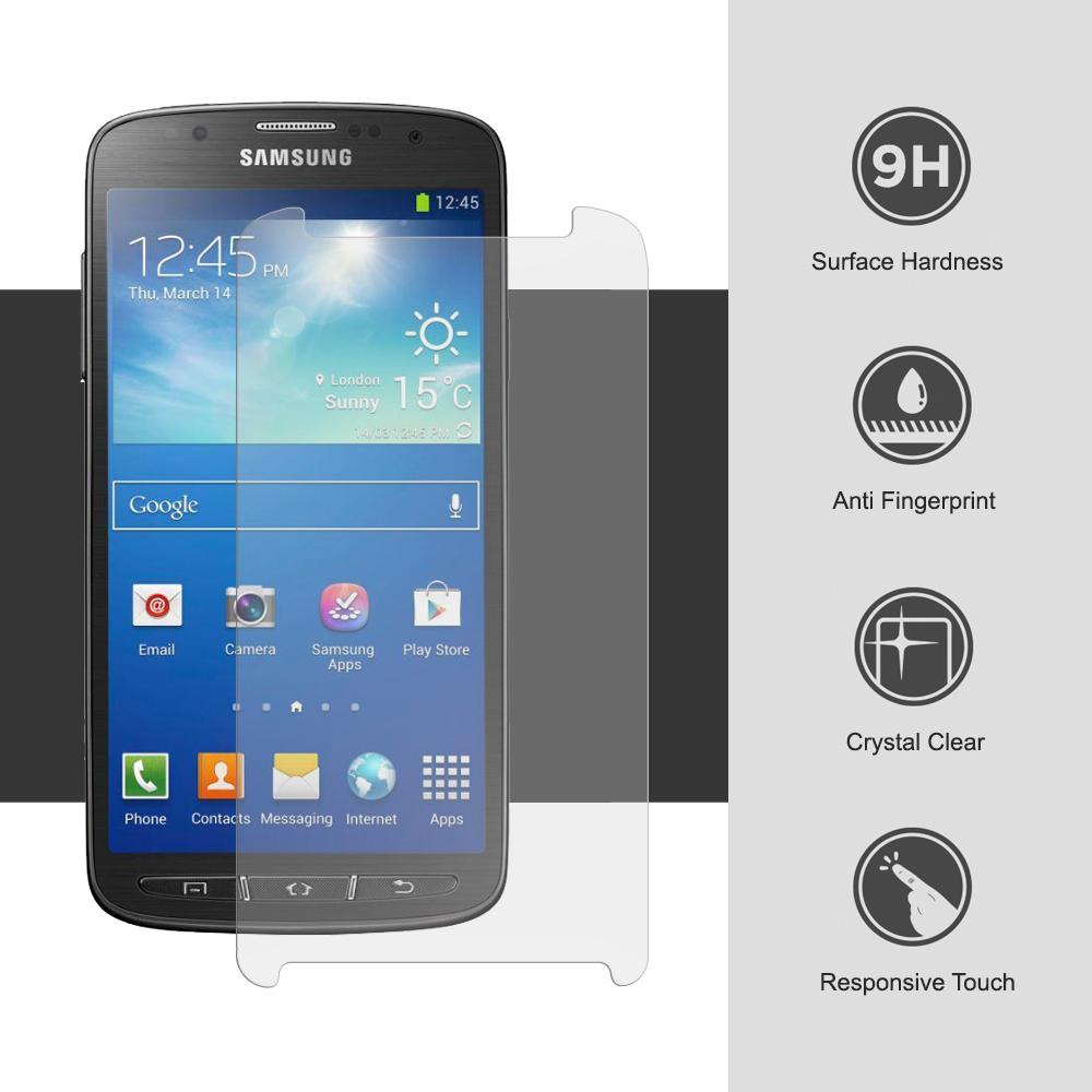 Ochranné tvrzené sklo na displej 9H pro Samsung Galaxy S4 Active.