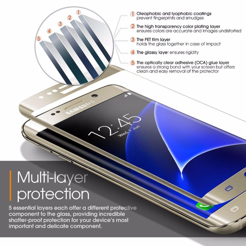 3D ochranné tvrzené sklo na displej pro Samsung Galaxy S7 Edge.