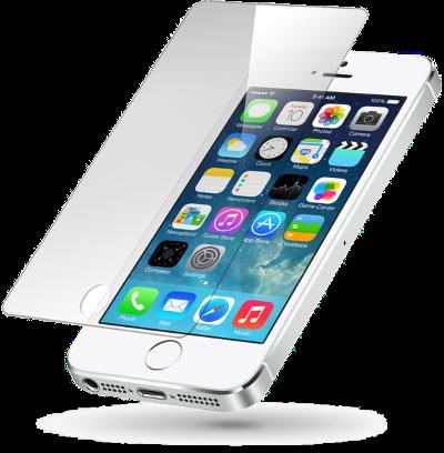 Ochranné temperované tvrzené sklo pro iPhone SE.