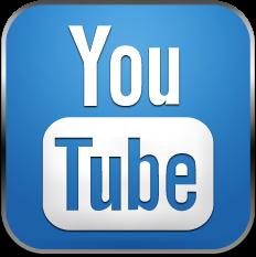 Logo sociální sítě YouTube modré, ČirýiPhone.cz.