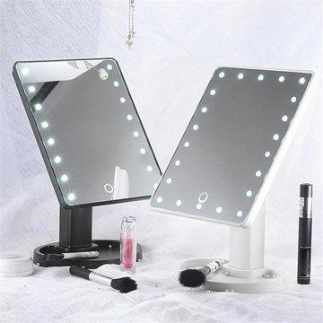 Kozmetické make-up zrkadlo s LED osvetlením
