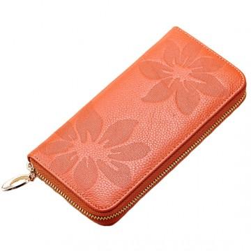 Flo Oranžová - Peněženka na zip