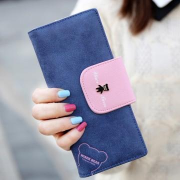 Wiser Bear - Modrá peněženka