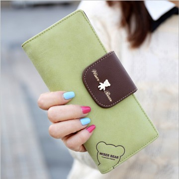 Wiser Bear - Zelená peňaženka