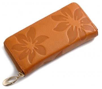 Flo Tm. oranžová - Peněženka na zip