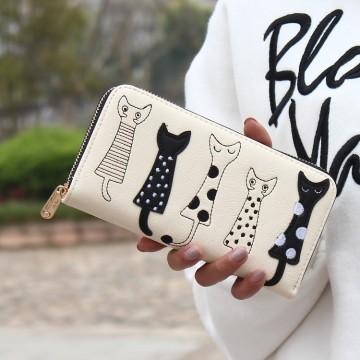 Cats - Bílá peněženka