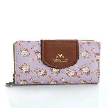 Flower Fialová - peňaženka