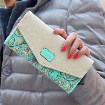 Loves zelená - peněženka