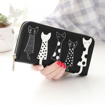 Cats - Černá peněženka