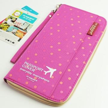 M Square - Cestovní organizér růžové puntíky
