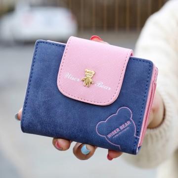 Wiser Bear malá - Modrá peněženka