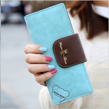 Wiser Bear - Sv. modrá peňaženka