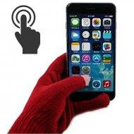 Dotykové rukavice pre smartphony a tablety - bordó