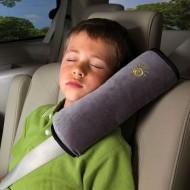 Cestovní polštářek do auta na pás - šedivý