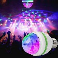 Rotační Disco LED žárovka - multicolor