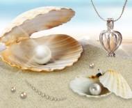 Dámský řetízek s přívěškem a pravou perlou