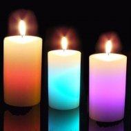 Kouzelná svíčka multicolor - válec