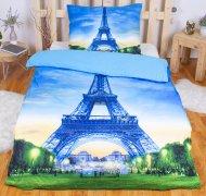 3D povlečení 140x200 + 70x90 - Eiffel