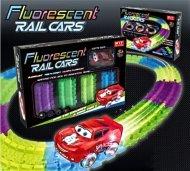 Svítící autodráha s autíčkem Fluorescent
