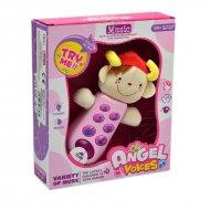 Dětský telefonek , který bliká a dělá zvuky - Růžový