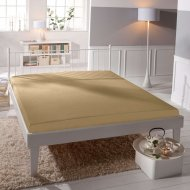 Jersey prostěradlo Premium Bed lycra DeLuxe - Oříškové