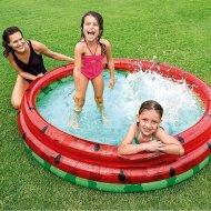 Kulatý bazén se třemi nafukovacími prstenci - Meloun (168cm)
