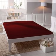Jersey prostěradlo Premium Bed - Vínové