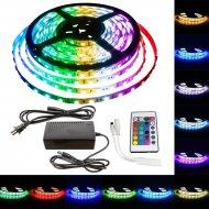 Farebný LED pásik s transformátorom - 5m