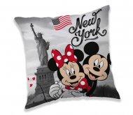 JERRY FABRICS Povlak na polštářek Mickey a Minnie New York micro Polyester, 40/40 cm