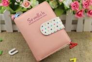 DOTS mini růžová peněženka