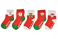Dětské ponožky s protiskluzovou podrážkou AURAVIA - 5 páru, mix motivů, velikost 15-16.5 (12-24m)