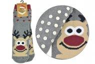 Dámské teplé ponožky s protiskluzovou podrážkou TURKEY - 1 pár, sob, velikost 35-38