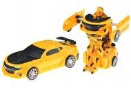 Natahovací transformační autíčko GAZELO (12cm) - Žlutý sporťák
