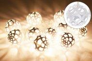 Svítící koule na baterie DECORATIVE 10LED (160x4cm) - Bílé, teplá bílá