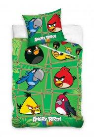 Povlečení Angry Birds Rio Bamboo 140/200 + 70/80