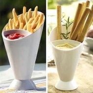 Velký servírovací pohár na dip a hranolky
