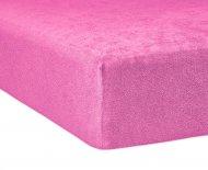 Froté prostěradlo Premium Bed - Růžové