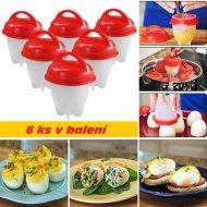 Silikonová forma na vaření vajec - sada 6 ks