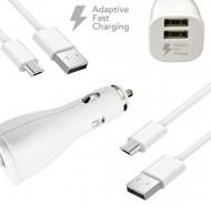 Nabíjačka do auta 2x USB + micro USB kábel