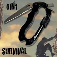 Multifunkční survival karabina 6 v 1